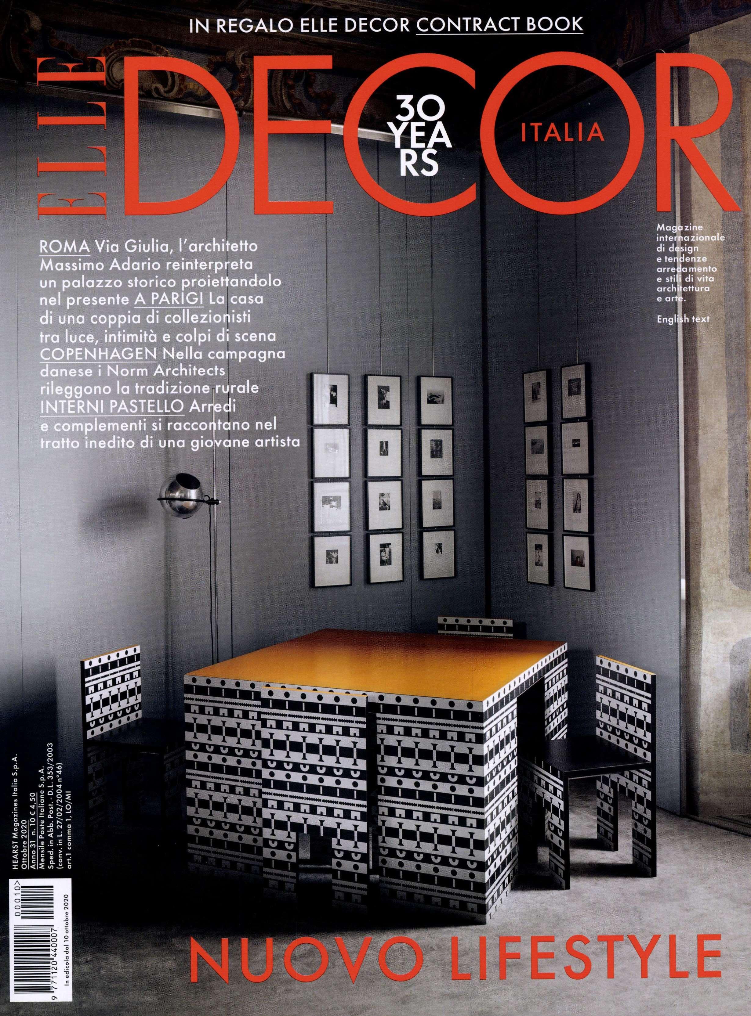 2020.10.01 – Elle Decor IT – cover